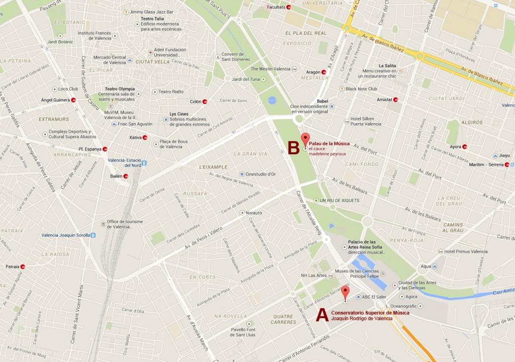 mapa posicion